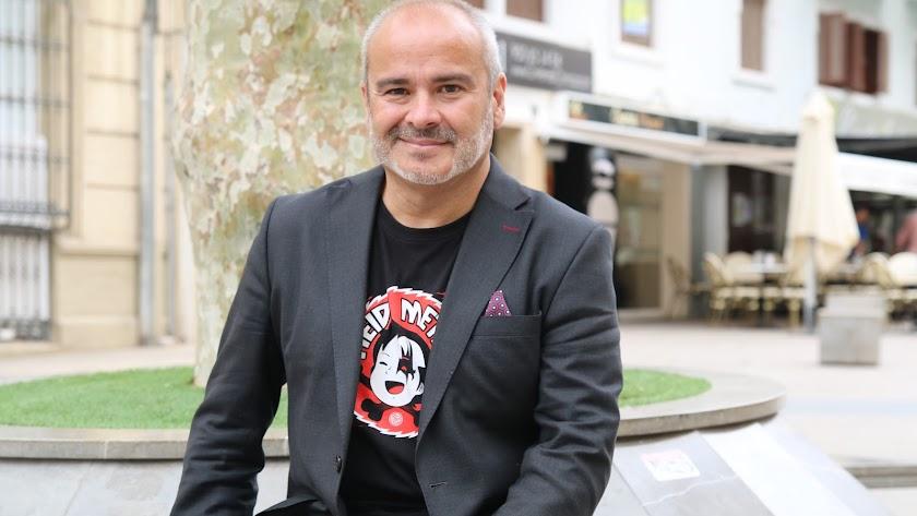 Javier Sirvent, en Almería
