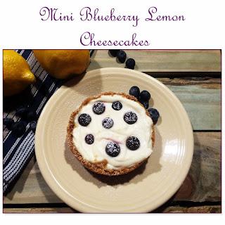 Instant Pot Mini Blueberry Lemon Cheesecakes