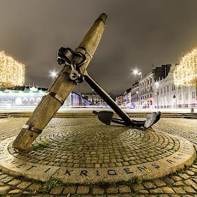 In memory by Romano Alberto Basso - City,  Street & Park  Night ( copenhagen, city lights, night, denmark, nightscape )