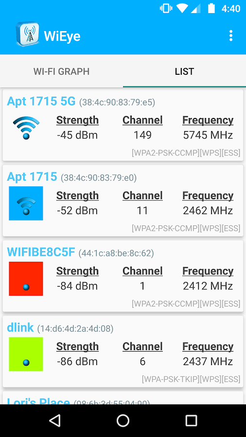 WiEye - WiFi Scanner- screenshot