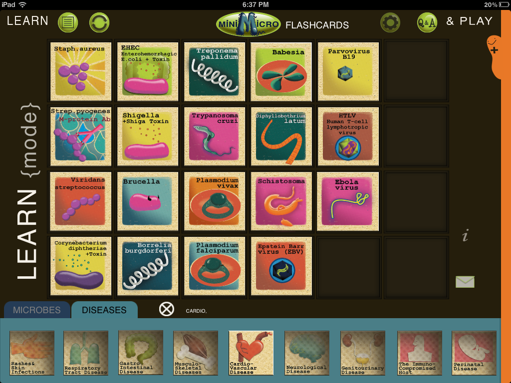 Microbiology Flashcards app for USMLE uses gamification for