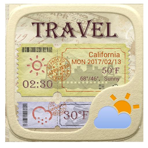 Travel GO Weather Widget Theme