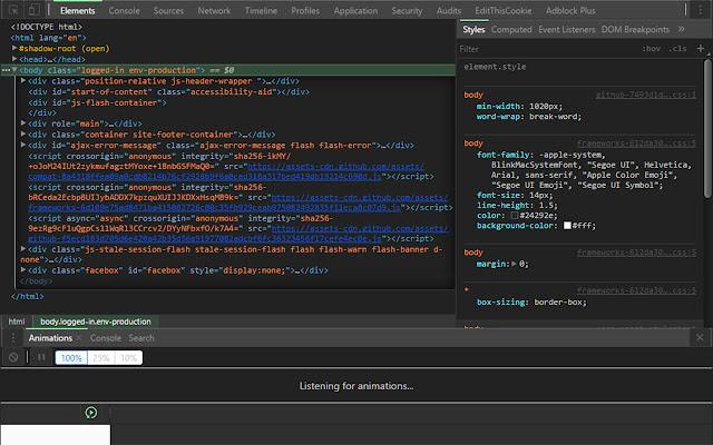 DevTools Theme: Dark