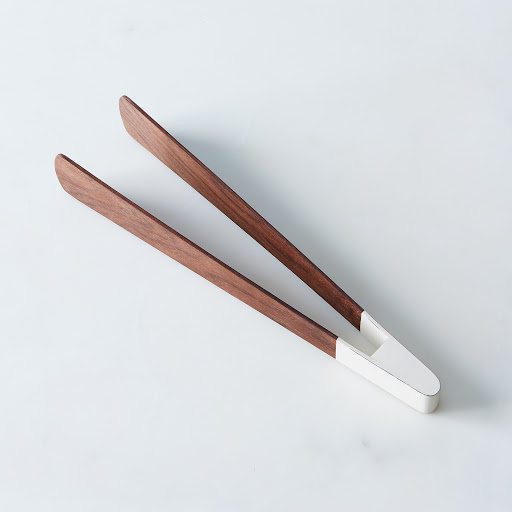 Dipped Walnut Tongs
