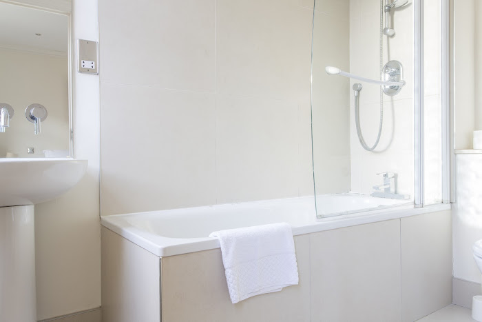 Bathroom at Astral House serviced apartments, Liverpool Street
