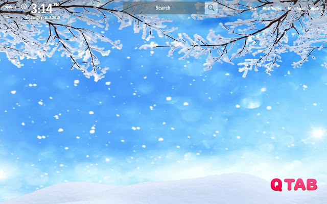 Snow New Tab Snow Wallpapers
