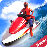 Jetski Water Racing: Superheroes League