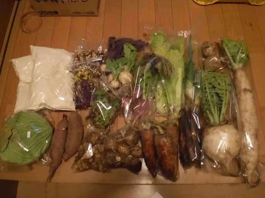2018年1月の季節のお野菜セット