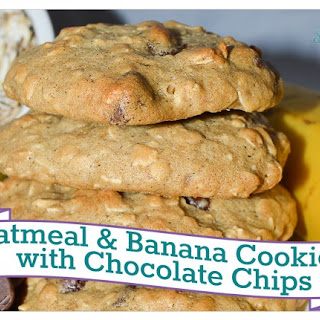 Oatmeal & Banana Cookies with Chocolate Chips