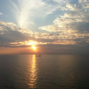 Sun rise on cruise by BoonHong Chan - Instagram & Mobile iPhone