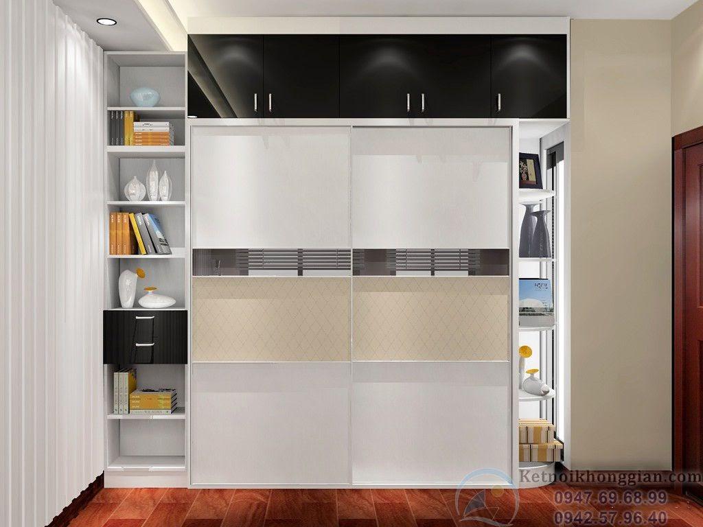 thiết kế phòng ngủ kết hợp phòng đọc sách đẹp mắt