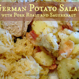 German Potato Salad With Pork Roast and Sauerkraut