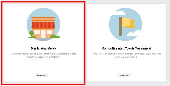 facebook ads tutorial - pilih bisnis