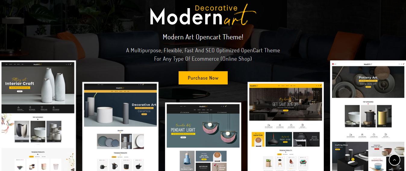 Modern Art - Opencart theme