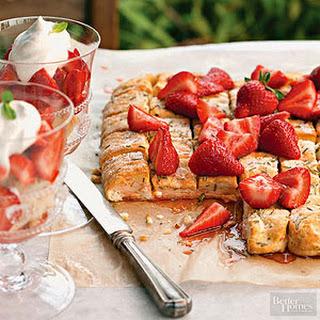 Rosemary-Strawberry Shortcake Pizza