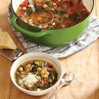 Smoky Farro and Chickpea Soup