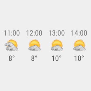 Transparent clock & weather Screenshot 30