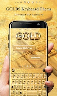 Gold Pro GO Keyboard Theme - náhled