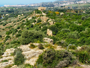 Photo: Agrigento city wall and temple of Concord