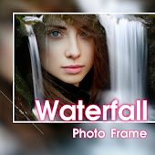 Beautiful Waterfall Photo Frames Greeting Cards