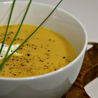 Leek and Acorn Squash Harvest Soup