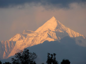 Photo: Sunset on Trishul from Chaukori