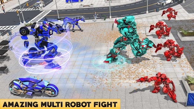 US Robot Police Bike Horse Robot Transformation apk screenshot