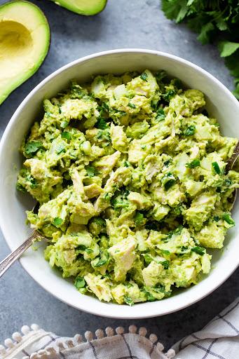 Guacamole Chicken Salad {Paleo, Whole30, Keto}
