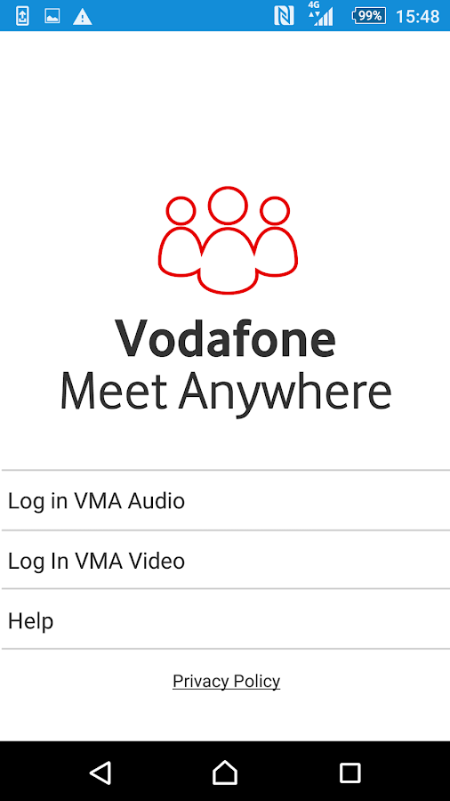 Vodafone Meet Anywhere- screenshot