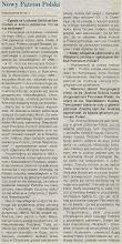 """Photo: Artykuł prasowy """"Niedziela Warszawska"""" (fragment)."""