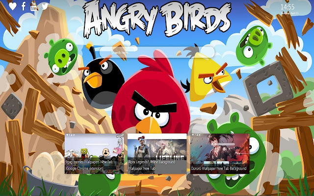 Angry Birds Wallpaper New Tab Background