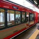 the Hakone train in Hakone, Kanagawa, Japan