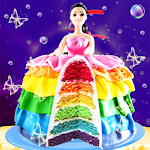 Rainbow Doll Cake bakery Game - DIY Cooking Kids Icon