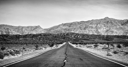 """Photo: """"On the road again""""  Death Valley, CA. 2011  The noteworthy thing about this image is that it was taken from the backseat through the windshield of +Thomas Hawk's rental SUV, while we were racing towards Scotty's (+Scott Jarvie) castle.  #DV2011 <-- Click to see other people's death valley posts #DV2011_RicardoLagos <-- Click to see the rest of my death valley posts"""