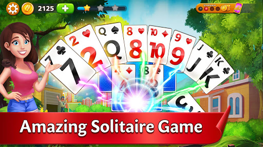 Solitaire Garden - TriPeaks Story android2mod screenshots 1