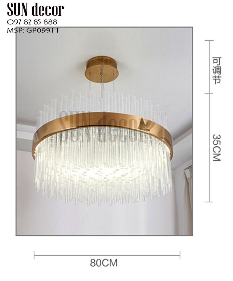 Đèn chùm hiện đại GP099TT - Đèn chùm pha lê