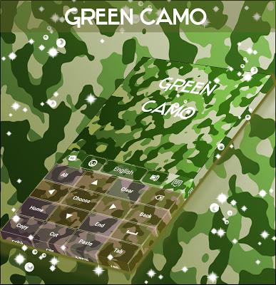 Green Camo Keyboard - screenshot