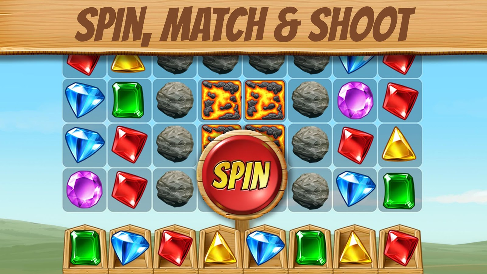 Cascade: Spin & Match Gem Puzzle App- screenshot