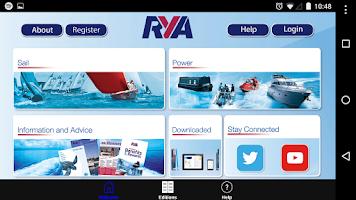 Screenshot of RYA Books