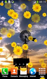 Větrný mlýn živé tapety - náhled