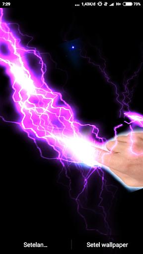 Electrical Lightning Touch Thunder Live Wallpapper screenshot 11