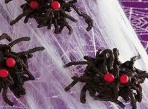 Spooky Chocolate Spiders For Halloween
