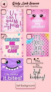 Girly Lock Screen Wallpaper with Quotes - náhled