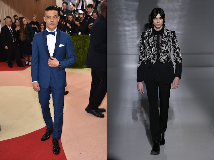 Rami Malek in Dior (left), and the Givenchy suit we'd love to see him in at the 2019 Oscars.