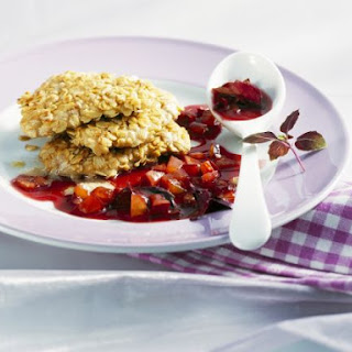 Crunchy Chicken Cutlets with Plum Sauce