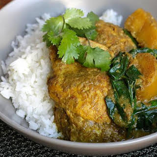 Chicken, Potato and Spinach Curry.