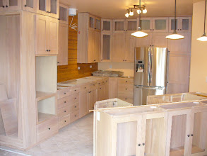 Photo: Natural wood grain Sing kitchen cupboards have a torsion box sandwich core that is stronger and flatter than solid wood, making your kitchen last a lifetime.