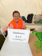 Photo: Nadine à la distribution des diplômes.