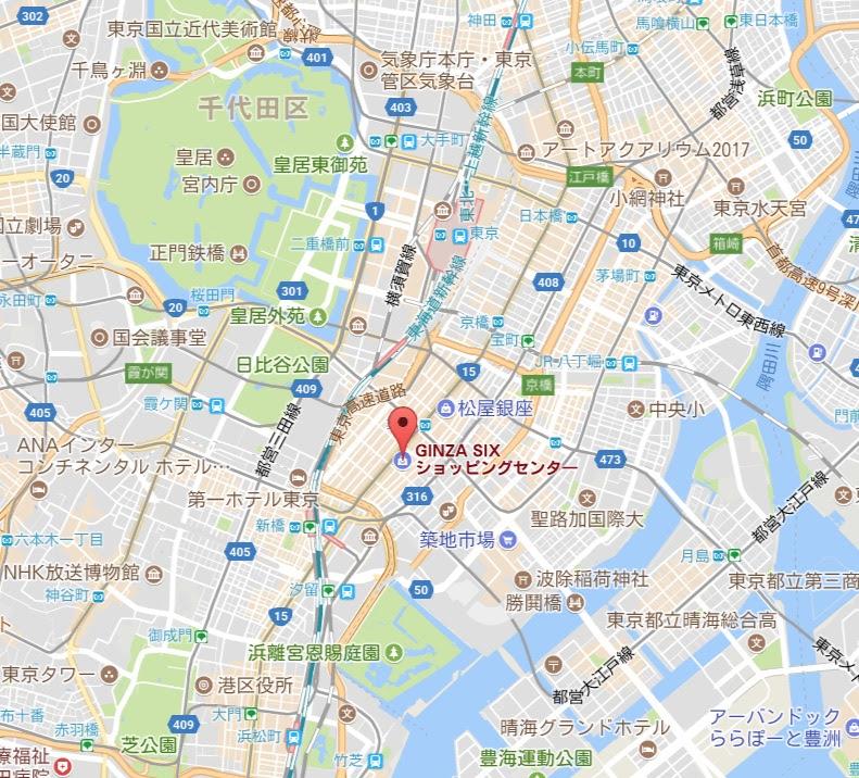 地図:GINZA SIX・ギンザ シックス
