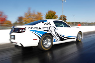 Photo: Mustang Cobra Jet Twin-Turbo Concept: The Mustang Cobra Jet Twin-Turbo Concept powered by a new twin turbocharged 5.0-liter V8 undergoes an initial shakedown test with Ford Racing engineers at Milan Dragway. (10/30/2012)